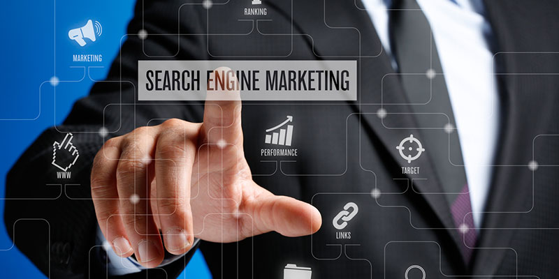 Search engine marketing is the practice of promoting a product